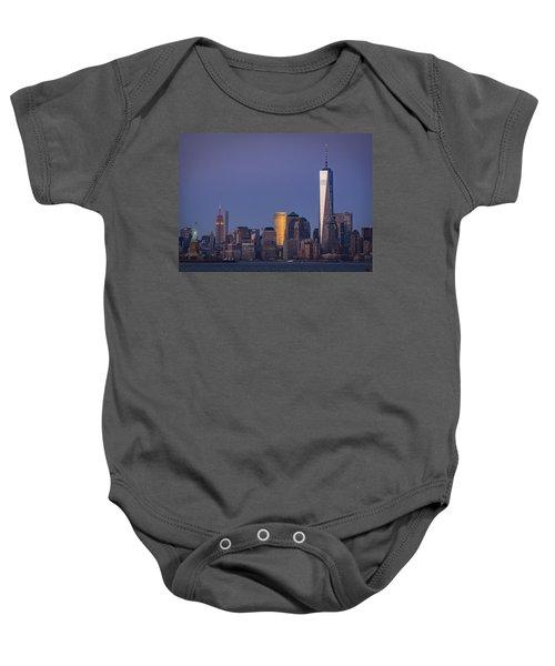 Three New York Symbols Baby Onesie