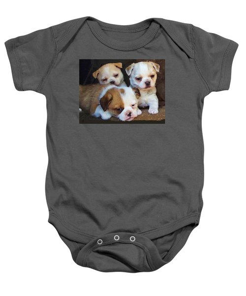 Three Sweeties Baby Onesie