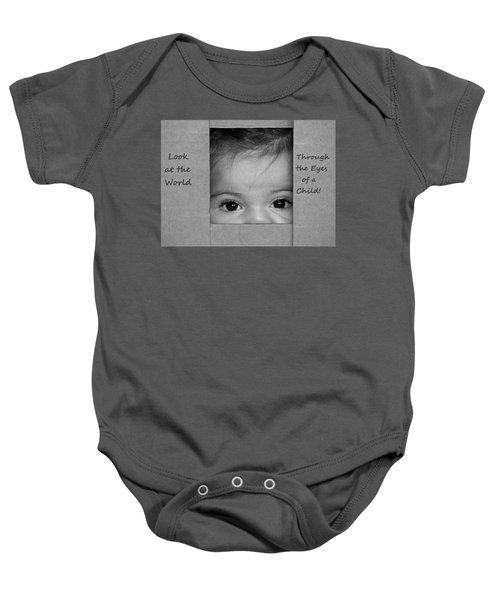 Through The Eyes Of A Child Baby Onesie