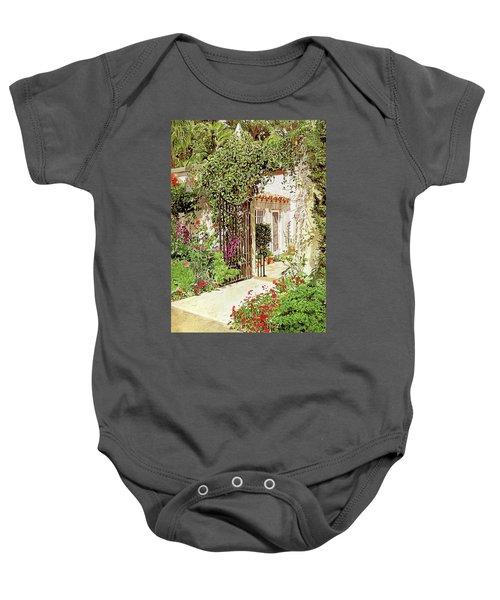 Through The Garden Gate Baby Onesie