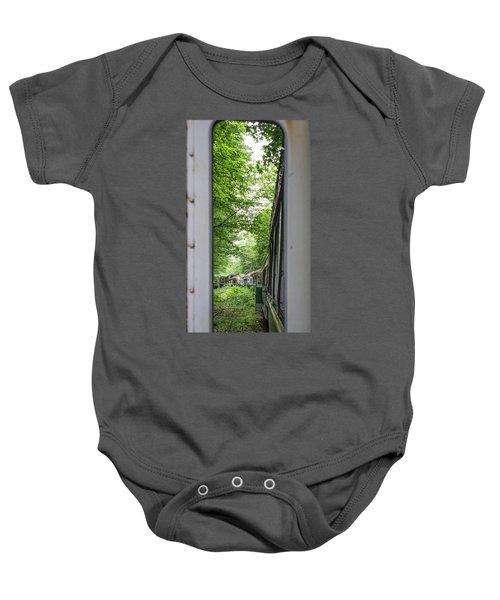 Through The Window Baby Onesie