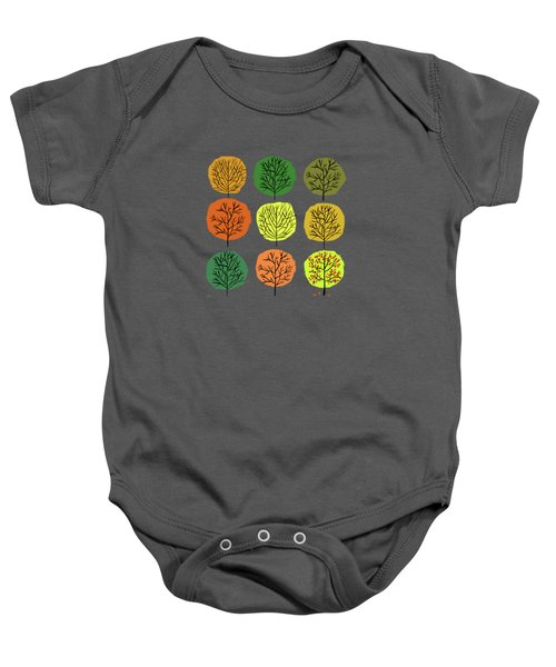 Tidy Trees All In Pretty Rows Baby Onesie