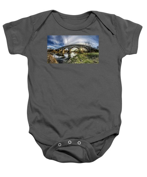 Tiffany Bridge Panorama Baby Onesie