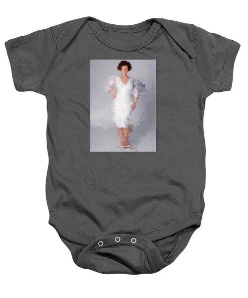 Baby Onesie featuring the digital art Tiffany by Nancy Levan