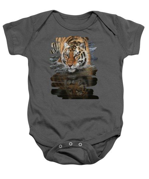 Tiger In Water Baby Onesie