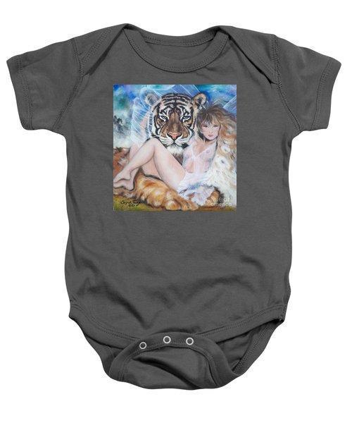 Blaa Kattproduksjoner        Tigers Angel Baby Onesie