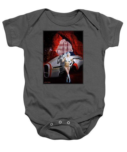 Time And Space Portal Baby Onesie