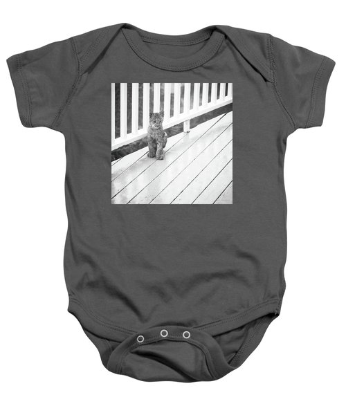 Time Out Bw Baby Onesie