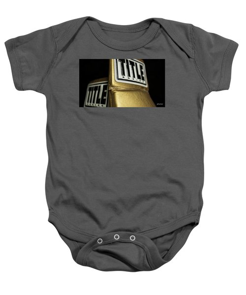Title Boxing Gloves Baby Onesie