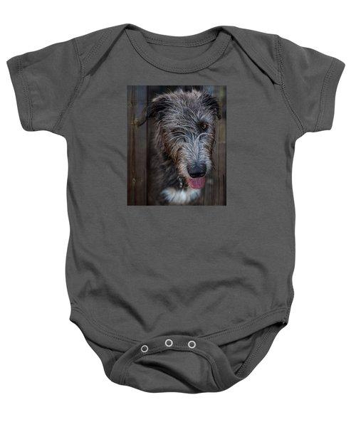 Toby, The Irish Wolfhound Pup Baby Onesie