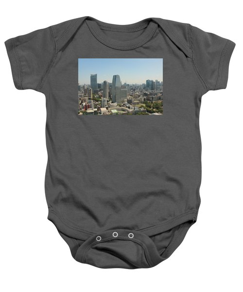 Tokyo Skyline Baby Onesie by Jacob Reyes