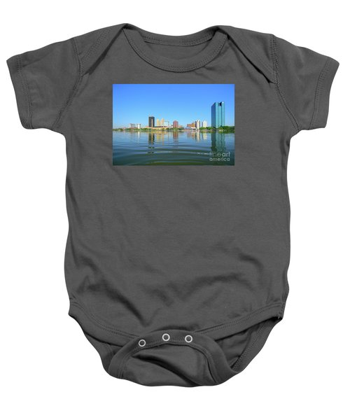 D12u-673 Toledo Ohio Skyline Photo Baby Onesie