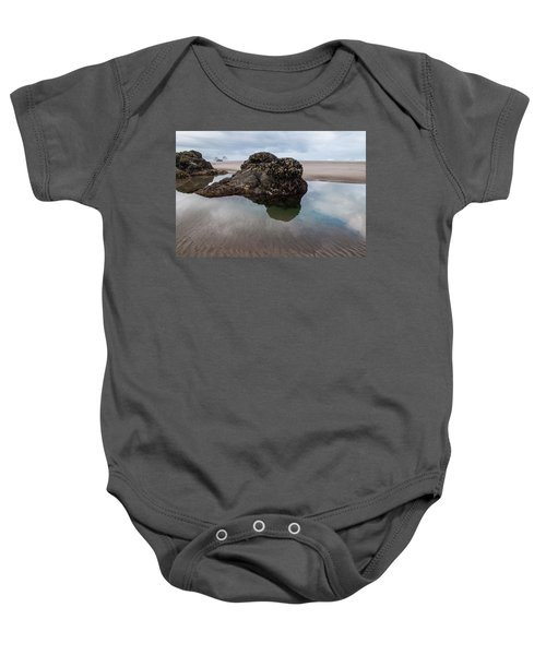 Tolovana Beach At Low Tide Baby Onesie