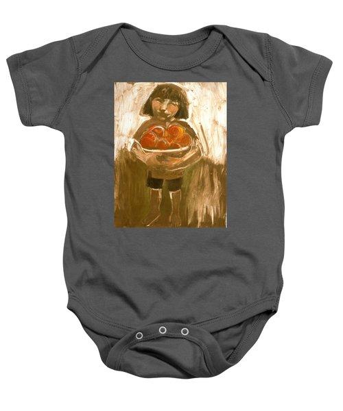 Tomato Girl Baby Onesie