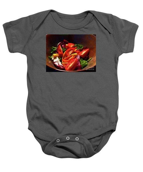 Tomato Salad Baby Onesie
