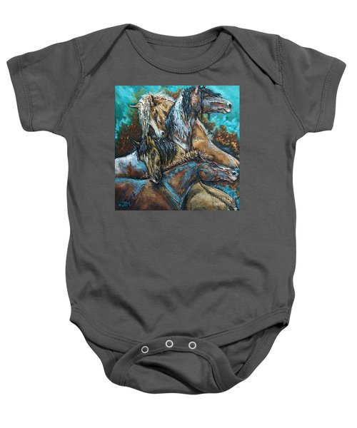 Too Be Like Me Be Four Baby Onesie