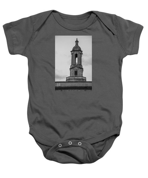 Tower At Old Main Penn State Baby Onesie by John McGraw