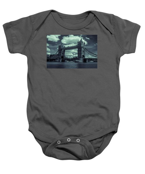 Tower Bridge Bw Baby Onesie
