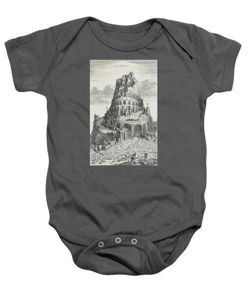 Tower Of Babylon Baby Onesie