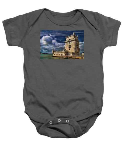 Tower Of Belem In Lisbon Baby Onesie