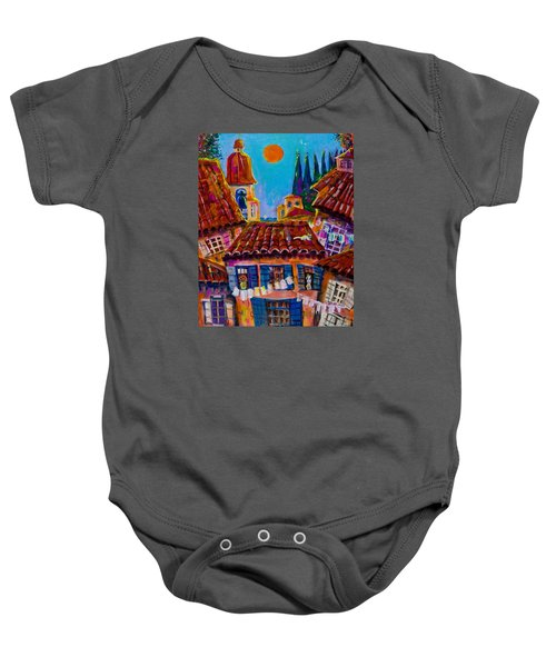 Town By The Sea Baby Onesie