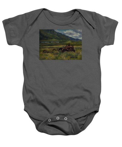 Tractor From Swan Valley Baby Onesie