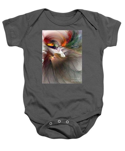 Tragedy Abstract Art Baby Onesie