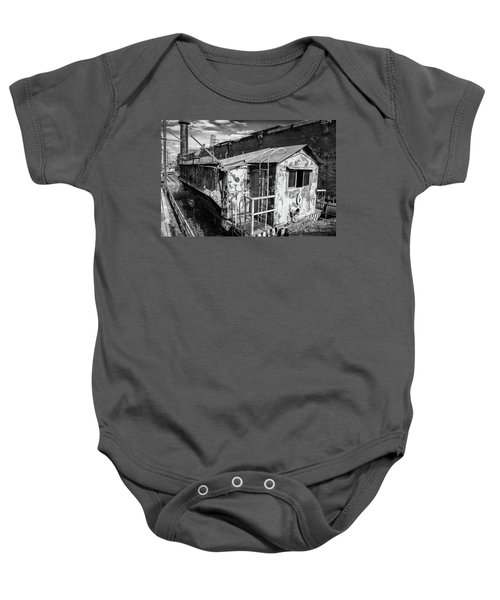 Train 6 In Black And White Baby Onesie