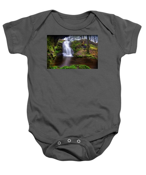 Tranquil Slow Soft Waterfall Baby Onesie