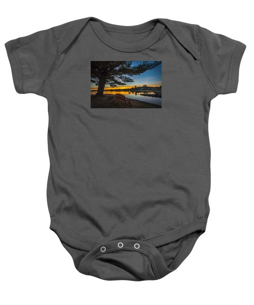 Tranquility At Sunset Baby Onesie