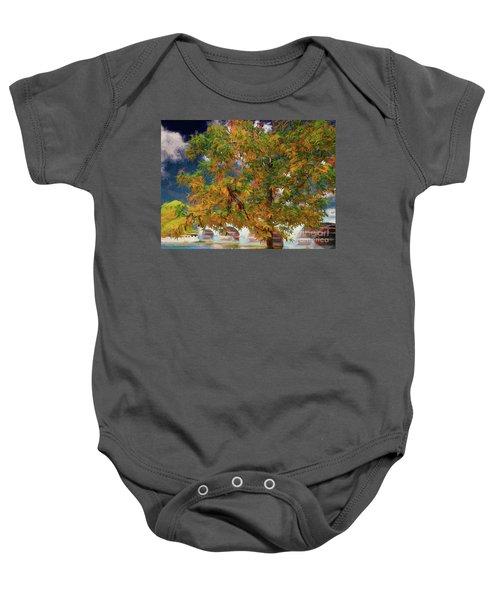 Tree By The Bridge Baby Onesie