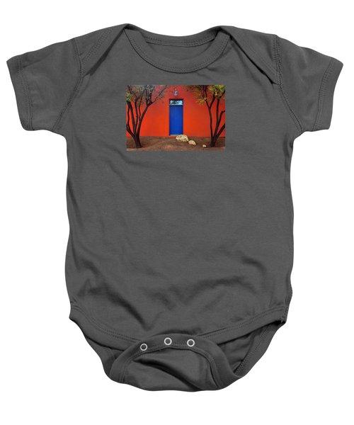 Trees And Door - Barrio Historico - Tucson Baby Onesie