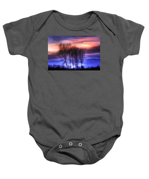 Trees And Twilight Baby Onesie