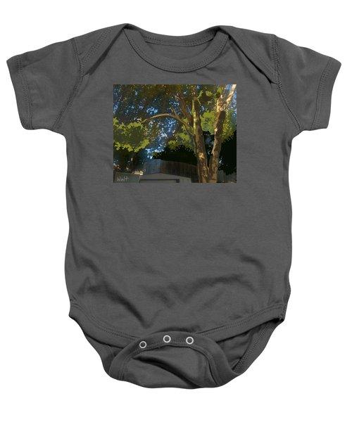 Trees In Park Baby Onesie
