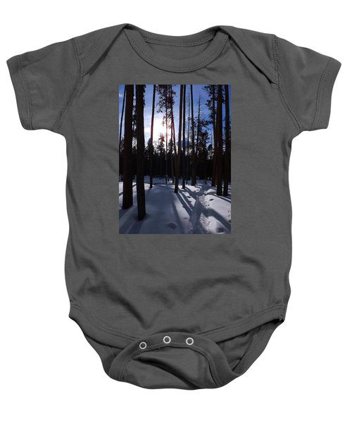 Trees In Winter Baby Onesie