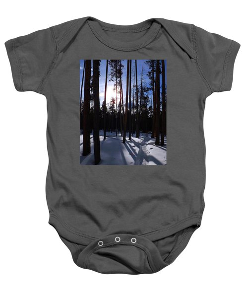 Trees In Winter Baby Onesie