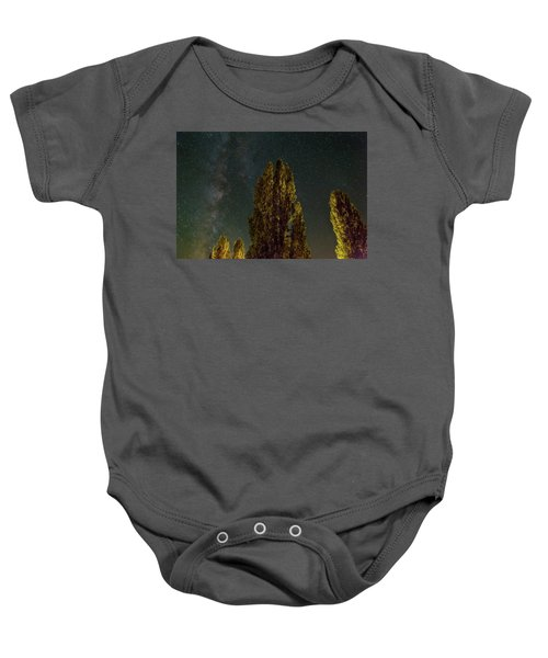 Trees Under The Milky Way On A Starry Night Baby Onesie
