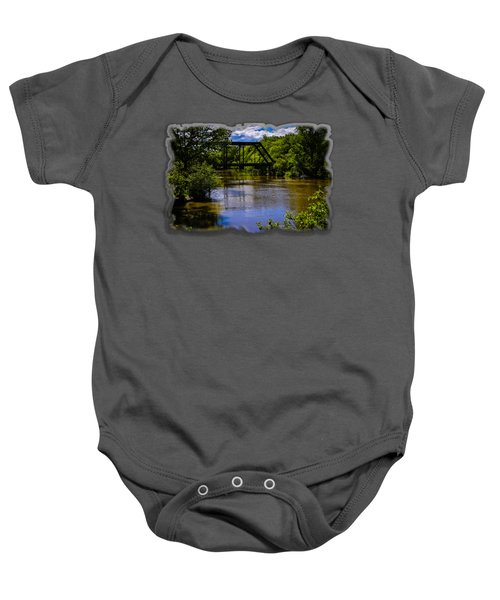 Trestle Over River Baby Onesie