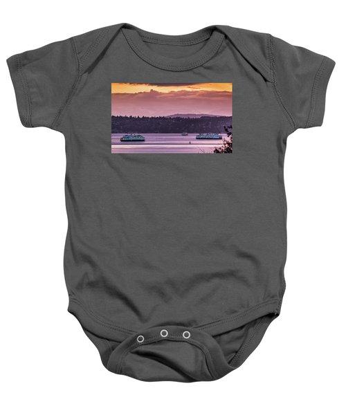 Triangle Ferry Run Baby Onesie