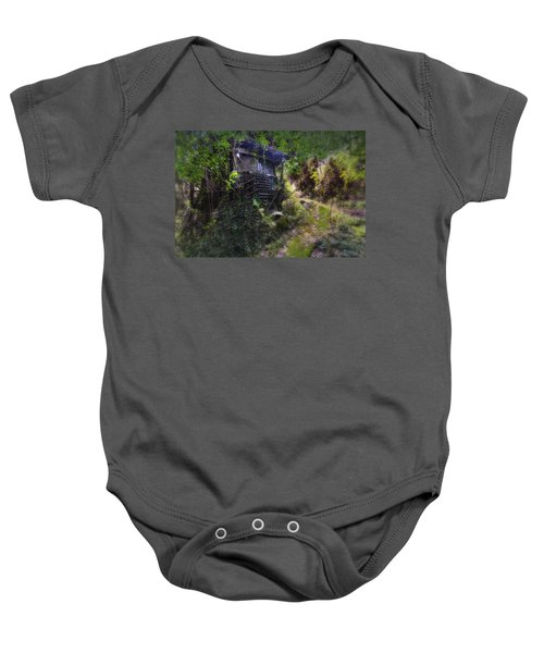 Trolley Bus Into The Jungle Baby Onesie