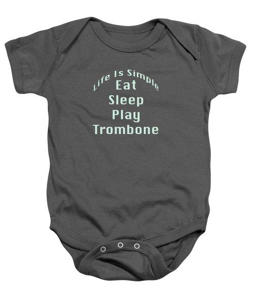 Trombone Eat Sleep Play Trombone 5518.02 Baby Onesie