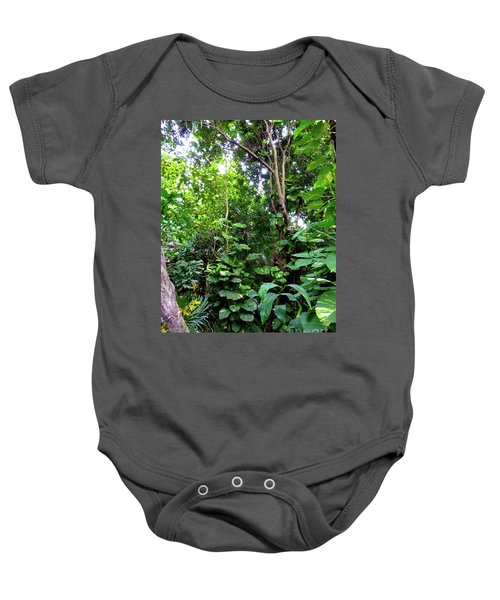 Baby Onesie featuring the photograph Tropical Garden by Francesca Mackenney
