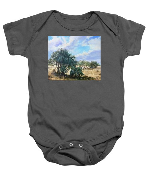 Tropical Orange Grove Baby Onesie