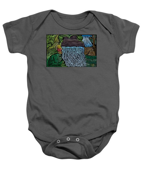 Tropical River Baby Onesie