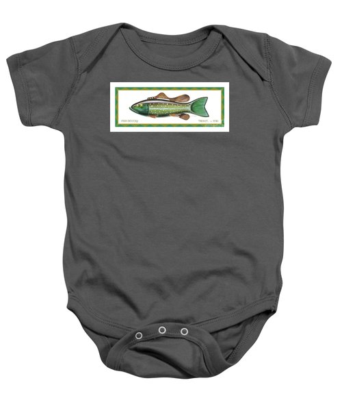 Trout Ice Fishing Decoy Baby Onesie