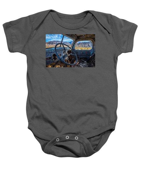 Truck Desert View Baby Onesie