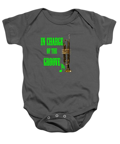 Trumpets In Charge Of The Groove 5535.02 Baby Onesie by M K  Miller