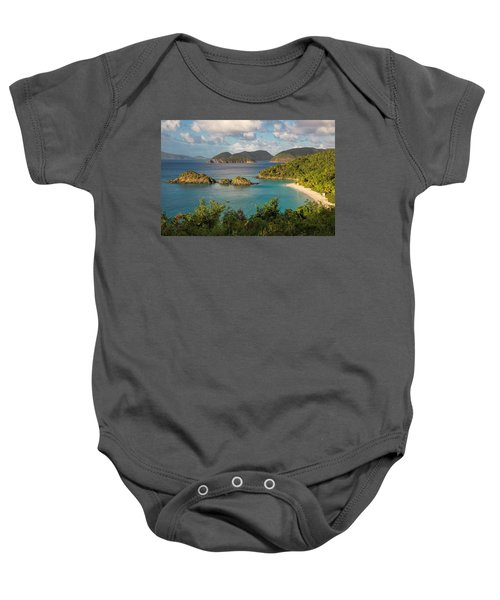 Baby Onesie featuring the photograph Trunk Bay Morning by Adam Romanowicz