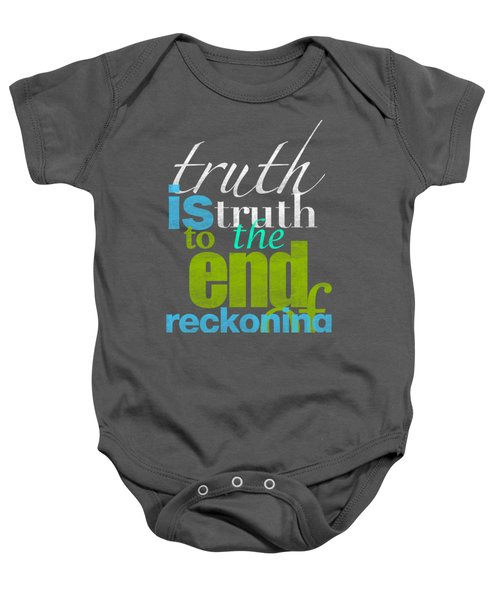 Michael Jackson Truth Is Truth Baby Onesie by D Francis