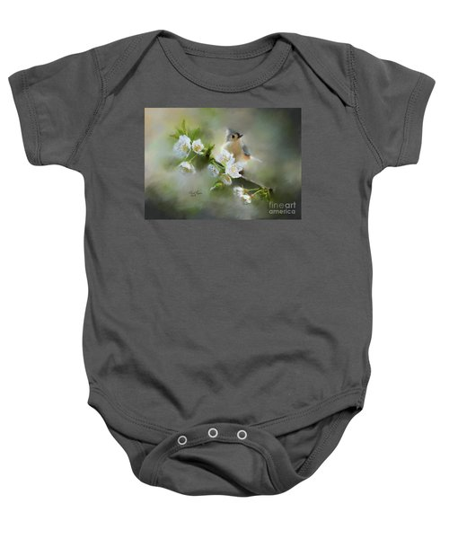 Tufted Titmouse Baby Onesie